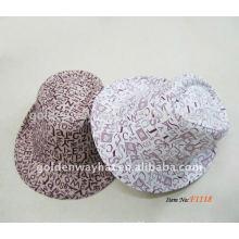 Sombrero impreso de Fedora del algodón de la manera