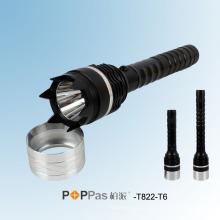 2014 Nueva Policía Antorcha Cree Xm-L T6 más brillante Linterna LED Poppas -T822