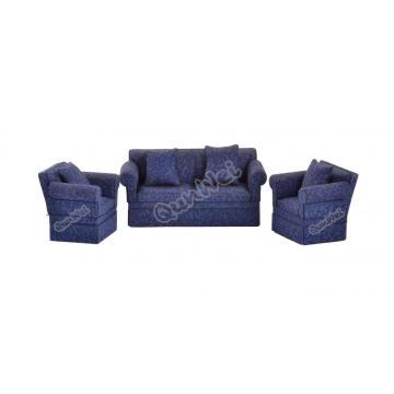 1/12 scale wooden miniature dollhouse furniture sofa set