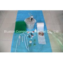 Tubo plástico Connect T-Connect para processo de infusão a vácuo