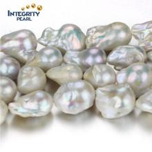 Forme irrégulière Pearl Strand 15-16mm AA- Vente en gros de fil de perles à eau douce nucléée
