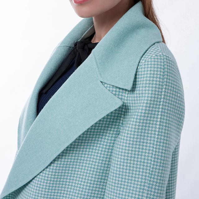 Cashmere coat collar