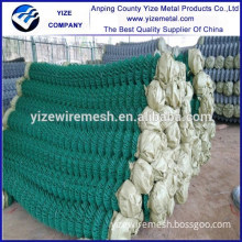 Alibaba China Basketball field PVC coated square wire mesh chain link fence