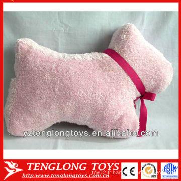 Nouveau type en forme de chien en peluche doux oreiller animal