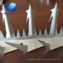 hot dipped galvanized razor spike Anti crawling razor spike wall fence anti spike
