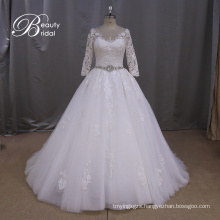Appliqued A-Line Bridal Dress Reasonable Price