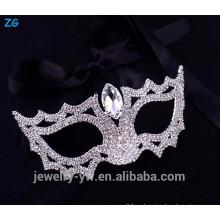 Venta al por mayor máscaras cristalinas del partido de la mascarada del diseño simple, máscara cristalina del ojo
