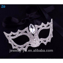 Vente en gros de masques en cristal de conception simple mascarée, masque cristallin