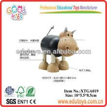 Brinquedos de animais de madeira para bebê - Toy de hipopótamo