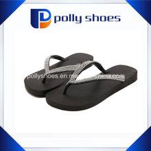 Damen Hausschuhe Strass Strap Flip Flop Sandalen