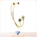 Pulseira de cristal de prata e pulseira jóias (g41329)