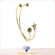 Cristal de plata de la estrella brazaletes y joyas pulsera (g41329)