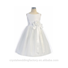 Children Wedding 2-12 Years Old Fashionable White Tulle and Long Ball Gown Flower Girl Dresses Pattern Kids Party Wear LF04