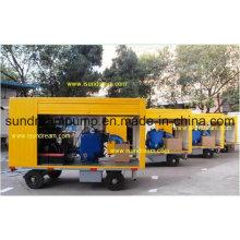 Pompe de transfert de carburant / gaz / carburant montée sur remorque ISO9001