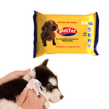 Pet Grooming Deodorizing Antibacterial Cleaning Wipes