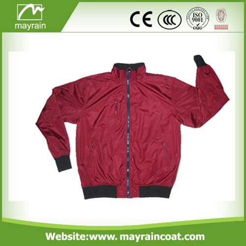 Breathable Polyester Men Rain Coat