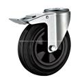 Industrial Rubber Wheel Bolt Hole Swivel