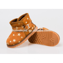 Kids winter boots buckle with gold stamping star winter snow boots