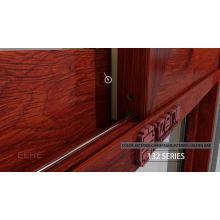 Алюминий с порошковым покрытием 96 x 80 Раздвижная стеклянная дверь для спальни