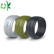 Högkvalitativ Silicone Wedding Ring Custom Debossed Finger Ring
