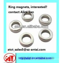 High Quality Ring Neodymium Magnet/ ring shaped magnet