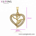 34500 XUPING fashion Synthetic CZ  14K gold color little girl heart shape   pendant