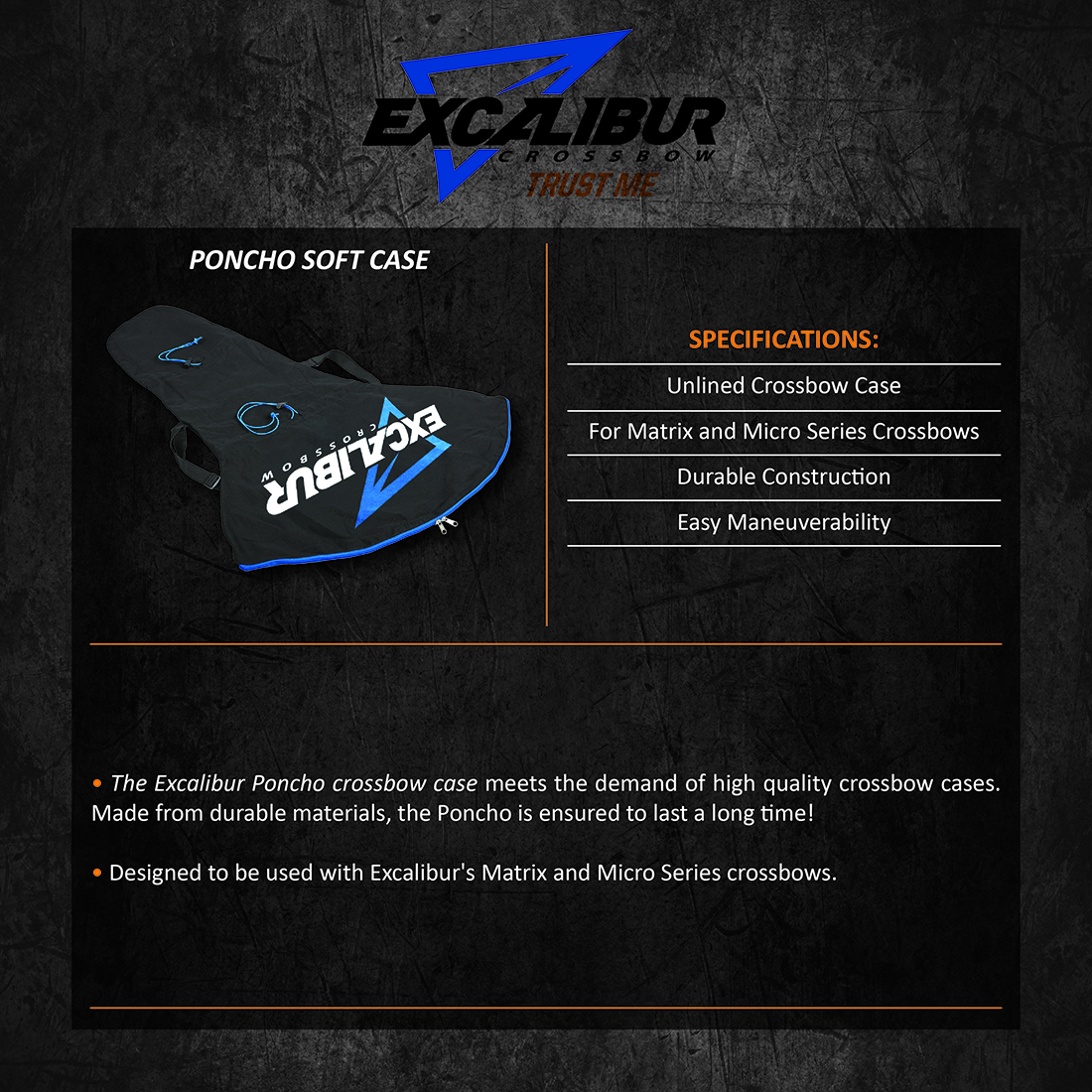 Excalibur_Poncho_Soft_Case_Product_Description