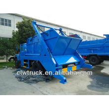 6000L caminhão de lixo de contêiner com balde de lixo tipo chão