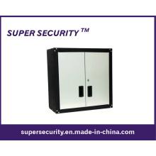 Gabinete de pared de acero de 2 puertas con 2 estantes (SMQ26)