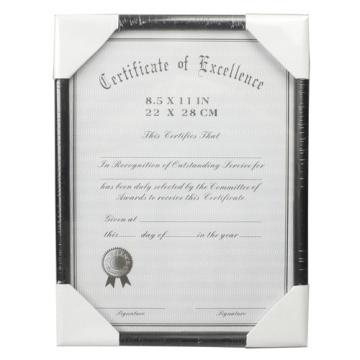 Prix concurrentiel 8,5 x 11 pouces certificat cadre