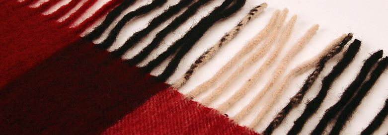 90% Wool 10% Cashmere Woven Throw -8