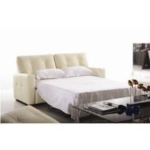 Кожаная раскладная диван-кровать