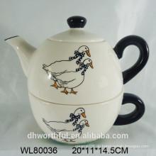 Großhandel keramische Teekanne mit Tasse für Wohnküche
