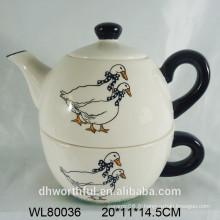 Vente en gros de théière en céramique avec tasse pour cuisine à la maison