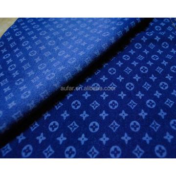 Tecido Denim com Impressão Digital Para Vestido Feminino