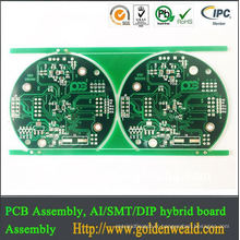 fabricant de carte PCB multicouche jaune de 4 couches cartes de carte PCB de contrôleur de xbox 360