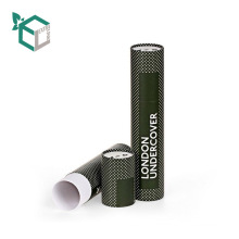 Luxury Gift Tube Cardboard Round Paper Packaging Box For Bottles