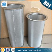 Material de acero inoxidable 304 y cestas de filtro de café tipo de herramientas de café verter sobre el goteador de café
