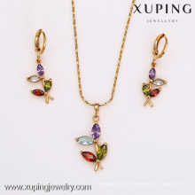 62510-Xuping Costume Jewelry Hot Item Promotion Gold Jewelry Set