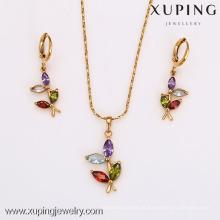Jóia quente do traje da jóia do traje 62510-Xuping ajustou o grupo da jóia do ouro