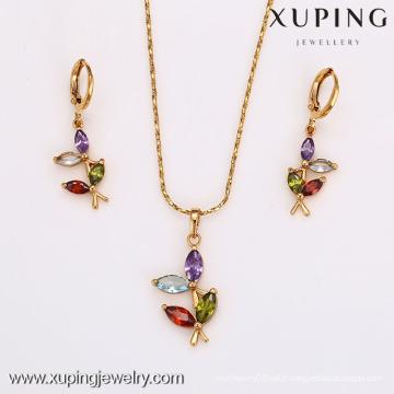 62510-Xuping Costume Jewelry Hot Item Promotion Ensemble de bijoux en or