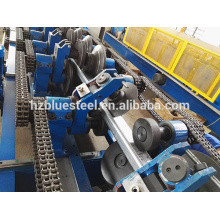 Automatic Change Interchangeable Multifunction C Z Purlin Roll Forming Machine , Many Size Roofing Purlin Making Machine