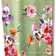 Vestido 100% Rayon Slub Reactive Printed Fabrics Mujer
