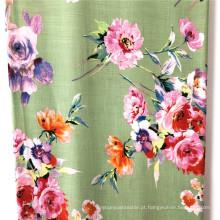 100% Rayon Slub reativo impresso tecidos mulher vestido