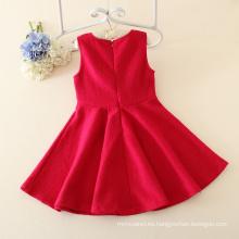 Nuevos vestidos de la princesa de los niños del algodón del estilo del otoño del otoño para la niña, fiesta de las muchachas de la flor