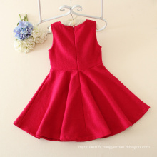 Les nouvelles robes de princesse d'enfants de coton de style d'hiver d'automne pour la petite fille, partie de filles de fleur