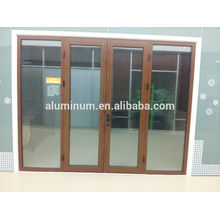 Porte coulissante en bois et aluminium