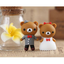 Cartoon Bear Bride Groom Usb Flash Drive