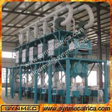 machine de moulin de maïs, usine de mouture de farine de maïs, chaîne de production de farine de maïs