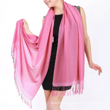 Multi-color for option 100% plain viscose shawl